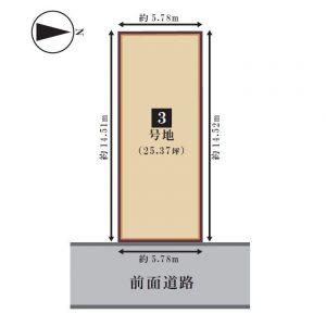 3号地敷地図