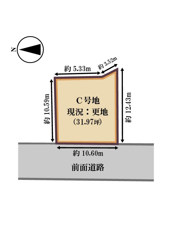 C号地敷地図(地図)